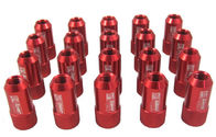China Red 40mm Aluminum Racing Wheel Lug Nuts With Key / Lock For Honda factory