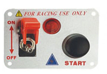 Automotive Racing Switch Panel With Flip Up Cover , Racing