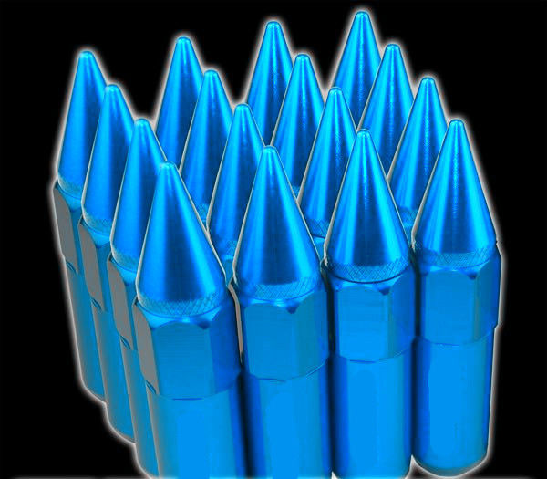 60mm Tuner Racing Lug Nuts 14x1.5 For Wheels - Rim , Blue Extended Lug Nuts