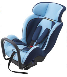 Portable Child Safety Car Seats With Adjustable Headrest / Fabric + Sponge