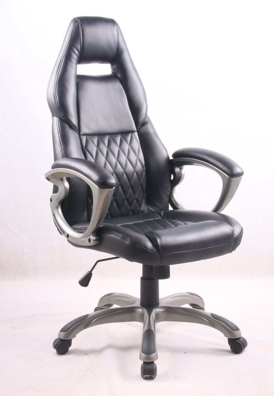 Black PU Porsche Racing Office Chair with Painting Armrest Executive Leather Office Chair  sc 1 st  Sport Racing Seats u0026 Bucket Racing Seats & Black PU Porsche Racing Office Chair with Painting Armrest Executive ...