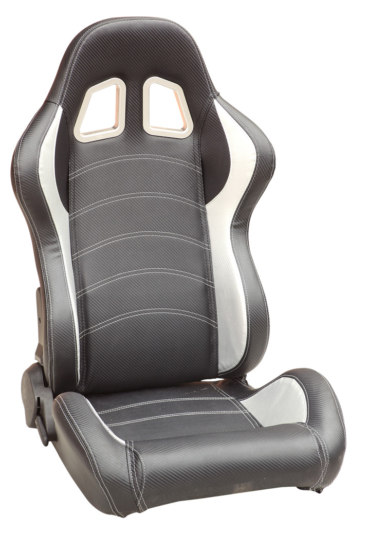 Phenomenal Sparco Style Leather Racing Sport Auto Car Seats Black And Machost Co Dining Chair Design Ideas Machostcouk