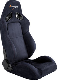 China Easy Install Black Leather Racing Seats , Race Car Seats With Seat Belts factory
