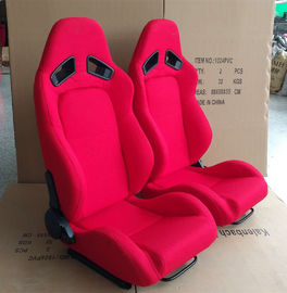 China Adjustable Racing Style Car Seats , Automotive Racing Seats Suede Material factory