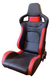 PVC Adjustable Red And Black Racing Seats / Sports Car Seat with single slider