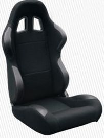 China High Performance Black Racing Seat Car Seat With Fabric + Carbon Look Material factory