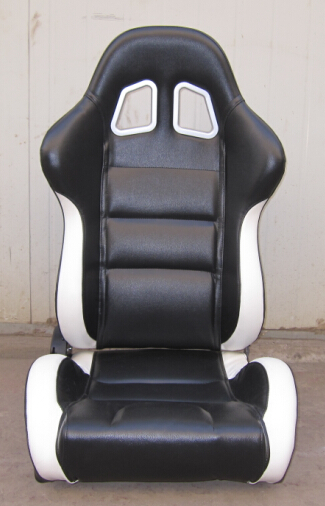 Black And White Sport Racing Seats With Harness Classic