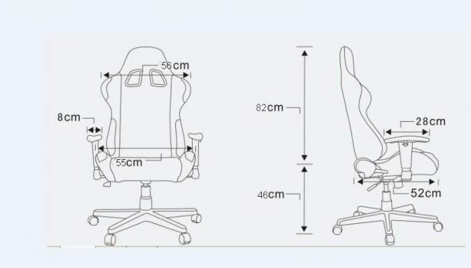JBR2037 Adjustable Folding Racing office Chair Gaming chair For Meeting Room Office